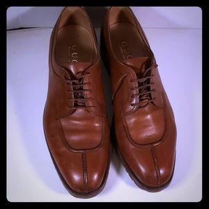 Men's Tan Gucci Tie Ups New Soles and heels S 10